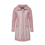 Mantel mit Fliz-Woll-optik, hellrosé