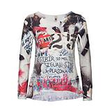 Shirt im Alloverprint, offwhite