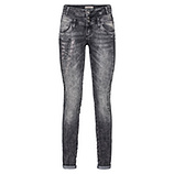 Sweat-Jeans mit Schriftzug 80cm, hellgrau