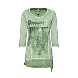 Crash-Shirt mit Glitzerfront, cactus