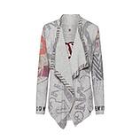 Shirt-Jacke im Alloverprint, grau-melange