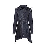Shirt-Jacke mit Glitzersteinchen, rauchblau