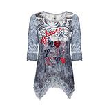 Shirt mit 3/4 Ärmeln und Print, moonlight