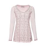 Basic Shirt mit Floral-Spitze, rosenholz