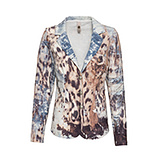 Blazer im Animal-Alloverprint, light blue