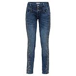 Jeans mit Glitzersteinchen 78cm, denim crashed