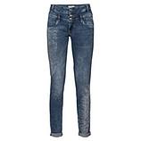 Sweat-Jeans mit Print und Glitzersteinchen 80cm, denim