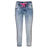 Sweat-Jeans mit Galonstreifen 64cm, denim