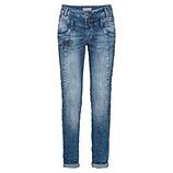 Sweat-Jeans mit Ziernähten und dekorativem Reißverschluss 80cm, blue