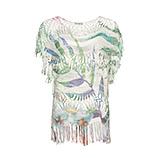 Strickshirt mit Alloverprint, cactus