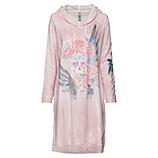 Kleid mit Federprint, rosenholz