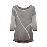 Basic Shirt mit Glitzersteinen, mocca