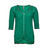 Basic Shirt mit Glitzersteinen, golfgrün