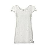 Basic Shirt mit Glitzersteinchen, offwhite