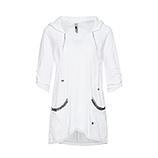 Basic Shirt mit Schmucksteinen, weiß