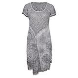 Gepatchtes Kleid mit Lurex, eiffelturm