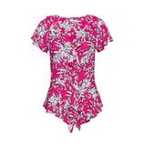 Viskose-Bluse mit Volants, pinkberry