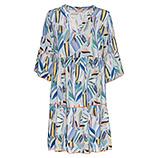 Kleid im Alloverprint, blau