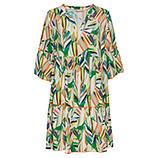 Kleid im Alloverprint, grün