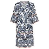 Kleid im Alloverprint, blau-weiß