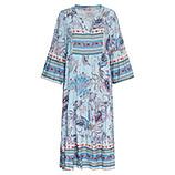 Maxi-Kleid im Floral-Print, eiskristall