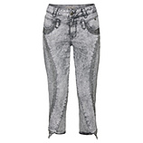 Sweat-Jeans mit Nieten 55cm, light grey