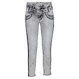 Jeans mit Galonstreifen aus Pailletten 64cm, hellgrau
