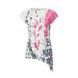 Crash-Shirt mit Alloverprint, pinkberry