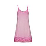 Basic Top mit floraler Applikation, rosé-pink