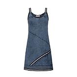 Top mit Zierbändern, jeansblau stonewashed