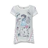 Shirt mit Front-Design, offwhite