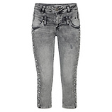 Sweat-Jeans mit Schmuckelementen 52cm, light grey