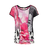 Bluse im Alloverprint, pinkberry