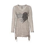 Shirt mit Strickfront, marmor