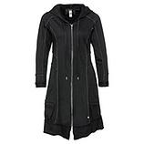 Sweat-Mantel 100% Cotton, schwarz