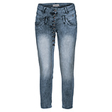 Sweat-Jeans im Worker-Style, blue crashed