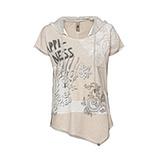 Kapuzen-Shirt mit Paisley-Print, sand