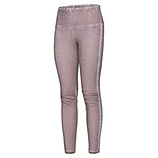Baumwoll-Leggings in Leder-Optik, dustyrose