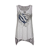 Top mit Cut-Out, silber