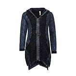Shirt-Jacke mit Loch-Struktur, night stonewashed