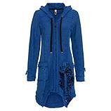 Mantel mit Samt-Flock, sky blue