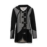Sweat-Jacke mit Schnapp-Verschluss, schwarz-grau
