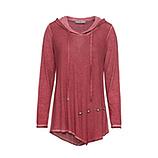 Beruhiger Shirt mit Schimmer Lurex, cranberry