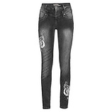 Sweat-Jeans mit Flügel-Design 78cm, dark grey