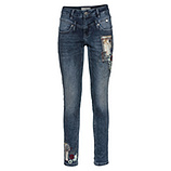 Sweat-Jeans mit Patches 78cm, blue