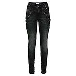 Sweat-Jeans mit Kreuzschnürung 80cm, grey