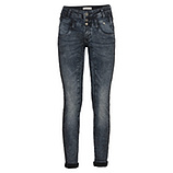 Sweat-Jeans mit Galonstreifen 78cm, blue black