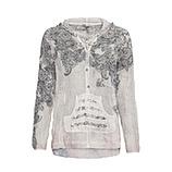 Bluse mit Paisley-Print, stein