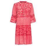 Kleid mit floraler Stickerei, sorbet