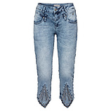 Sweat-Jeans mit Keilabschluss 55cm, blue